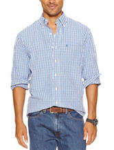 Izod Two Tone Tatersall Check Print Woven Shirt