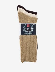 Chaps 3-pk. Casual Ribbed Socks