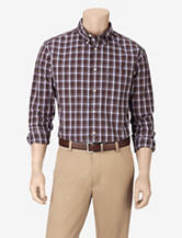 Sun River Brown Plaid Woven Shirt – Men's