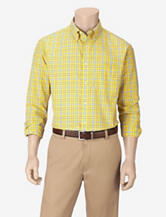 Sun River Yellow Plaid Woven Shirt – Men's