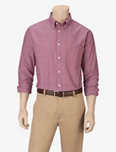 Sun River Red Striped Woven Shirt – Men's