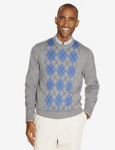 Dockers® Grey Argyle Print Knit Sweater – Men's