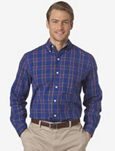 Chaps Nokoni Royal Blue Plaid Woven Shirt – Men's