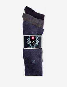 Chaps 3-pk. Heathered Cushion Sole Crew Socks