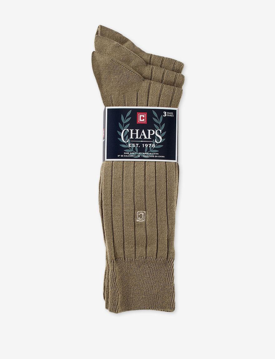 Chaps Khaki Socks