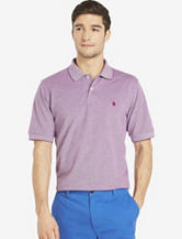 Izod Classic Purple Oxford Polo Shirt – Men's