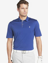 Izod Striped Trim Blue Golf Polo Shirt – Men's