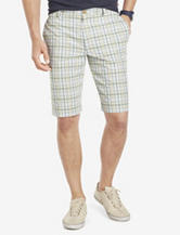 Izod Tartan Plaid Flat Panel Shorts – Men's