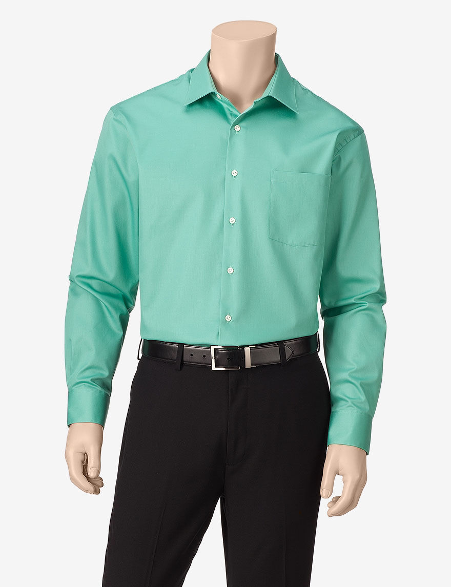 Van Heusen Green Dress Shirts