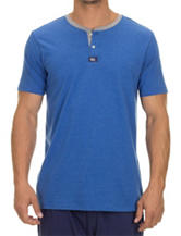 Izod Heather Blue Henley T-shirt – Men's