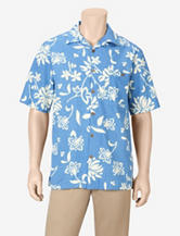 Joe Marlin Blue Malibu Floral Print Woven Shirt – Men's