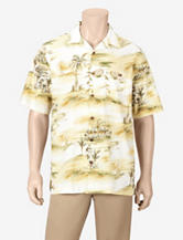 Joe Marlin Ivory Coast Beach Print Woven Shirt – Men's