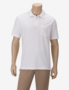 Sun River Solid Color Pocket Piqué Polo Shirt
