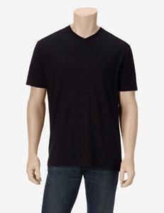 Rustic Blue Solid Color Slub V-neck T-shirt – Young Men's