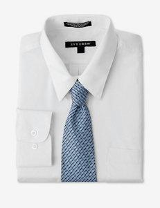 Ivy Crew 2-pc. White Dress Shirt & Tie Set