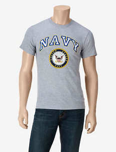 U.S. Navy Heather Gray Classic Navy T-shirt