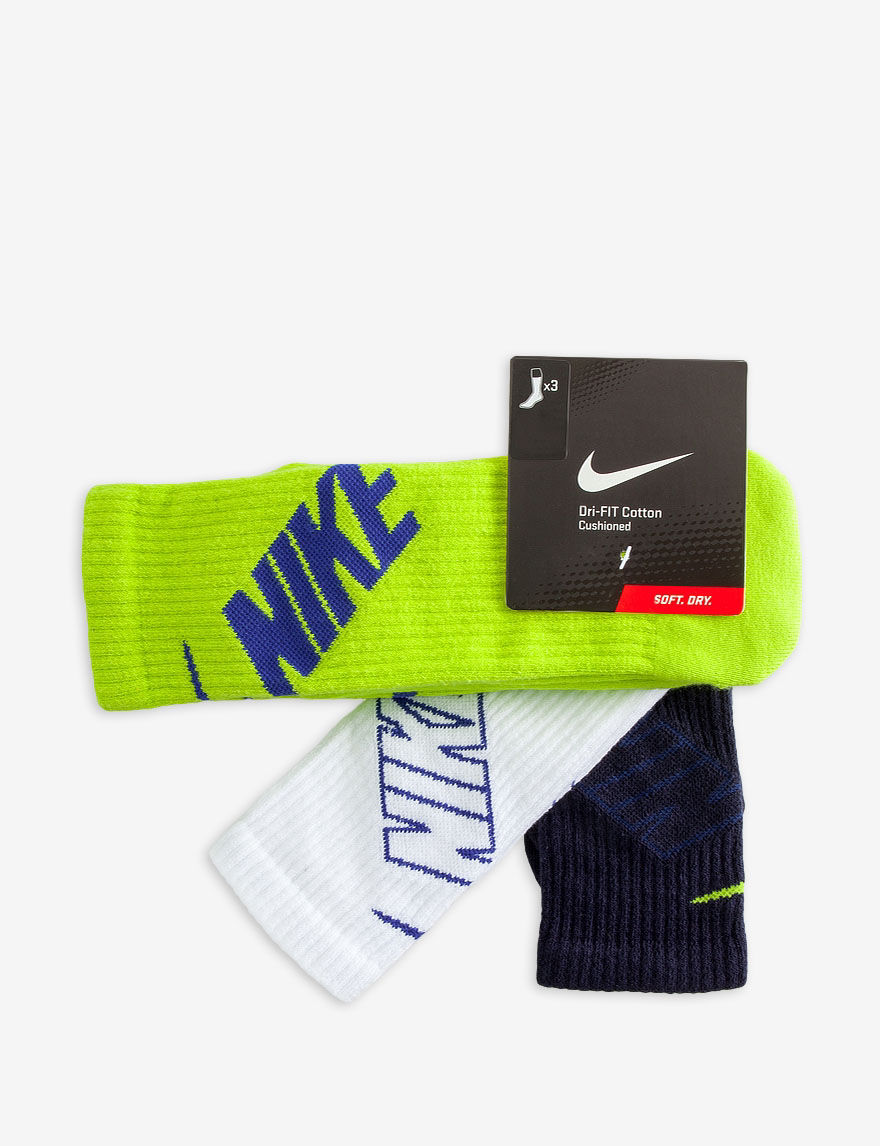 Nike White / Blue / Green Socks