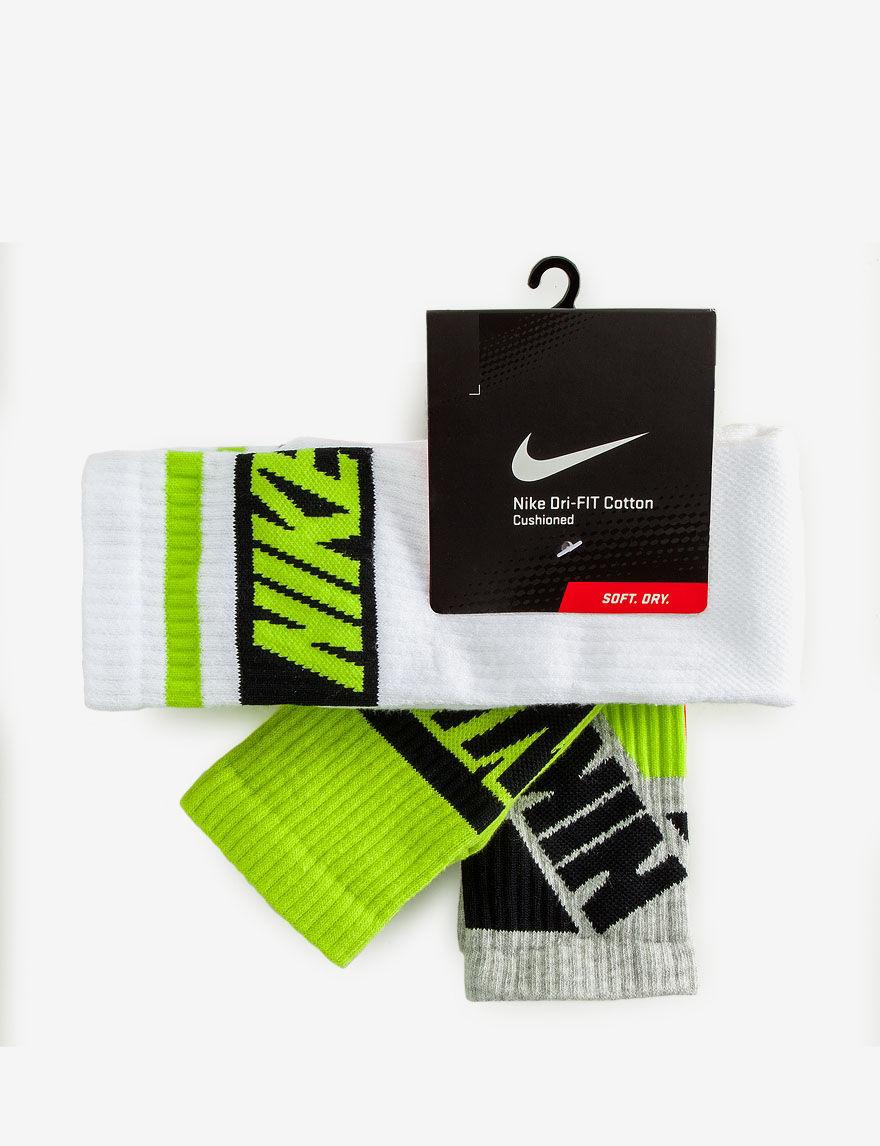 Nike Lime Socks