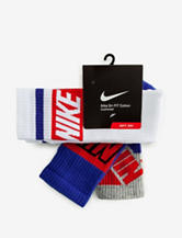 Nike® Dri-FIT Stripe 3-pk. Cushioned Cotton Socks