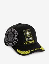 U.S. Army Veteran Logo With Shadow Black Cap