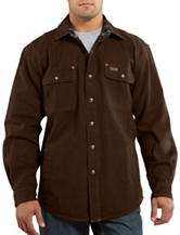 Carhartt® Weathered Canvas Solid Color Shirt Jacket