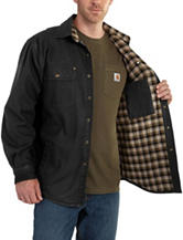 Carhartt® Men's Big & Tall Weathered Canvas Solid Color Shirt Jacket