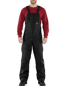 Carhartt® Men's Big & Tall Black Shoreline WPB Bib Overalls
