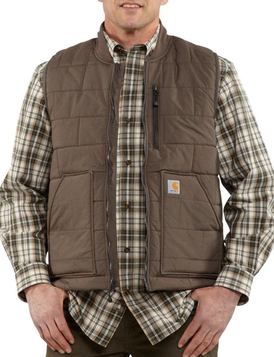 Carhartt Olive Vests