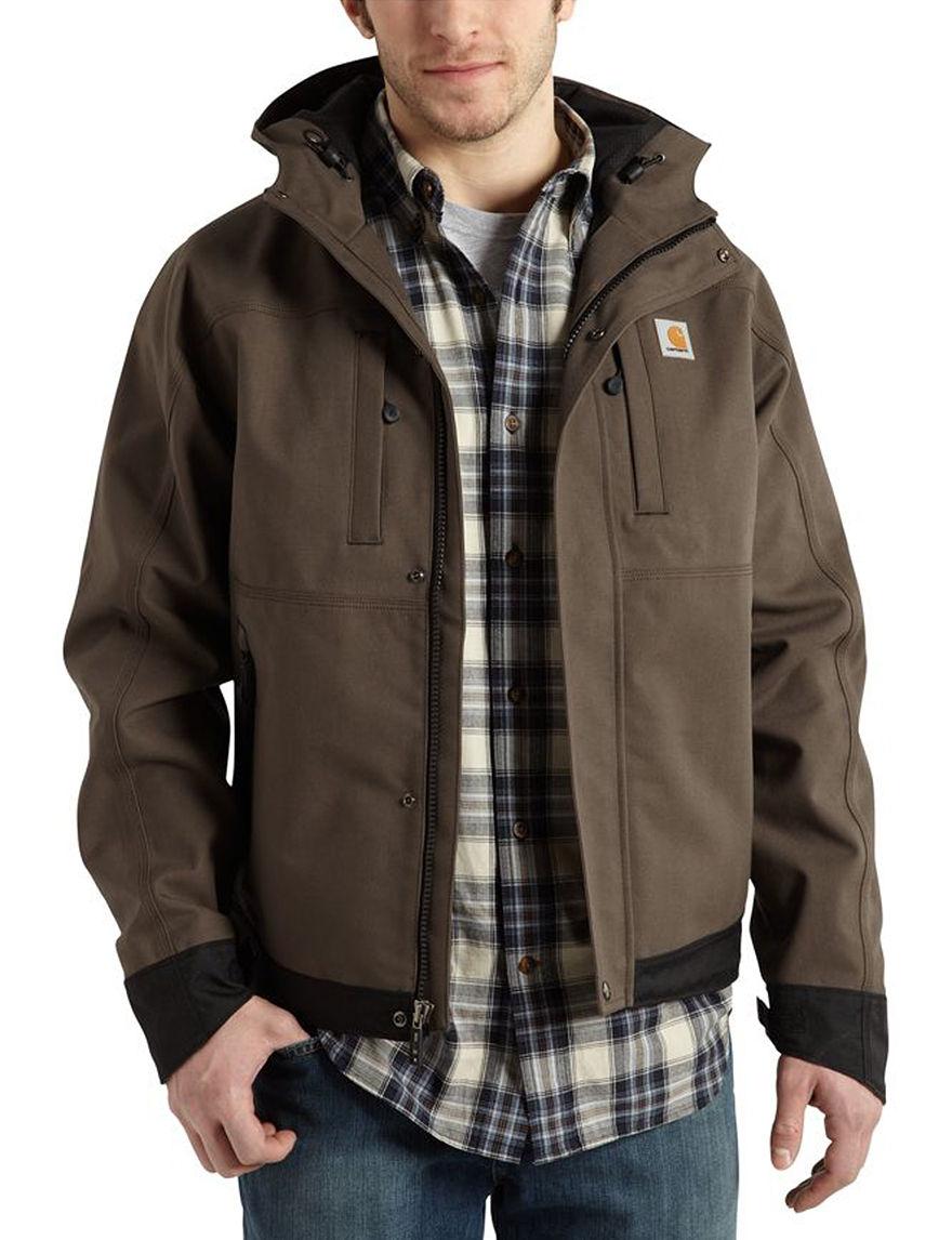 Carhartt Dark Brown Rain & Snow Jackets