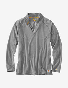 Carhartt Force Cotton Delmont Solid Color Quarter Zip Shirt