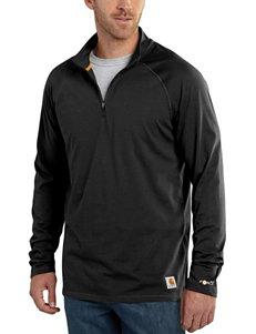 Carhartt Men's Big & Tall Force Cotton Delmont Solid Color Quarter Zip Shirt