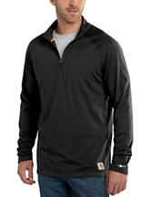 Carhartt® Men's Big & Tall Force Cotton Delmont Solid Color Quarter Zip Shirt