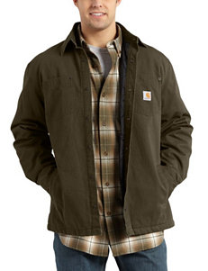 Carhartt Brown Casual Button Down Shirts