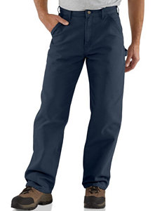 Carhartt Washed Duck Work Dungaree Solid Color Utility Pants