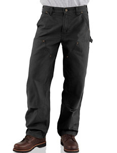 Carhartt Men's Big & Tall Double Front Washed Duck Work Dungaree Pants
