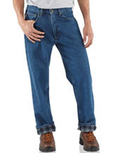 Carhartt® Relaxed Fit Flannel Lined Straight Leg Jeans