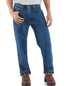 Carhartt® Men's Big & Tall Relaxed Fit Flannel Lined Straight Leg Jeans