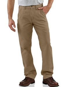 Carhartt® Men's Big & Tall Canvas Khaki Relaxed Fit Straight Leg Pants