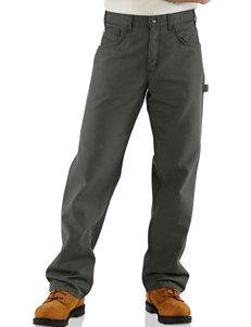 Carhartt Men's Big & Tall Solid Color Fire Resistant Canvas Jeans