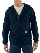 Carhartt® Men's Big & Tall Navy Fire Resistant HW Zip Front Sweatshirt