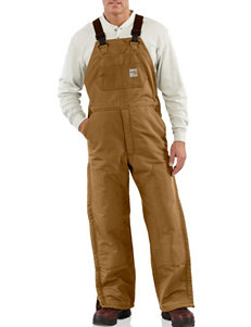 Carhartt Flame Resistant Duck Bib Lined Solid Color Overalls