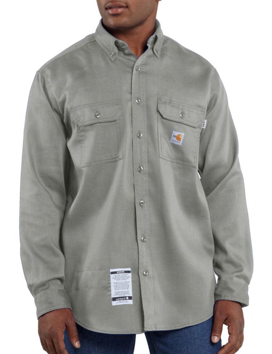 Carhartt Navy Casual Button Down Shirts