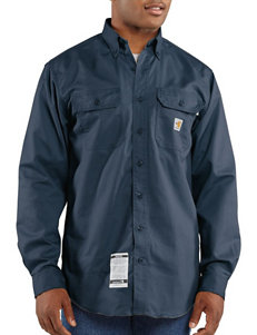 Carhartt Navy Casual Button Down Shirts