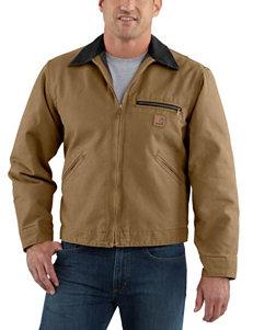 Carhartt Detroit Sandstone Blanket Lined Solid Color Jacket