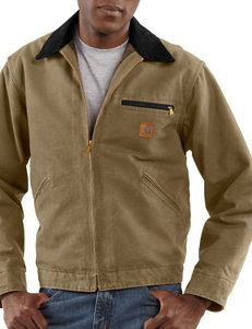 Carhartt Men's Big & Tall Detroit Sandstone Blanket Lined Solid Color Jacket