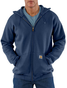 Carhartt® Men's Big & Tall Midweight Original Fit Zip Front Solid Color Sweatshirt