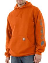 Carhartt® Men's Big & Tall Solid Color Signature Sleeve Logo Hooded Sweatshirt