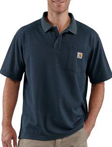 Carhartt® Men's Big & Tall Original Fit Contractors Work Solid Color Polo Shirt