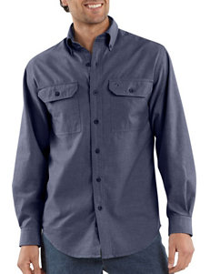 Carhartt® Button Front Relaxed Fit Chambray Shirt