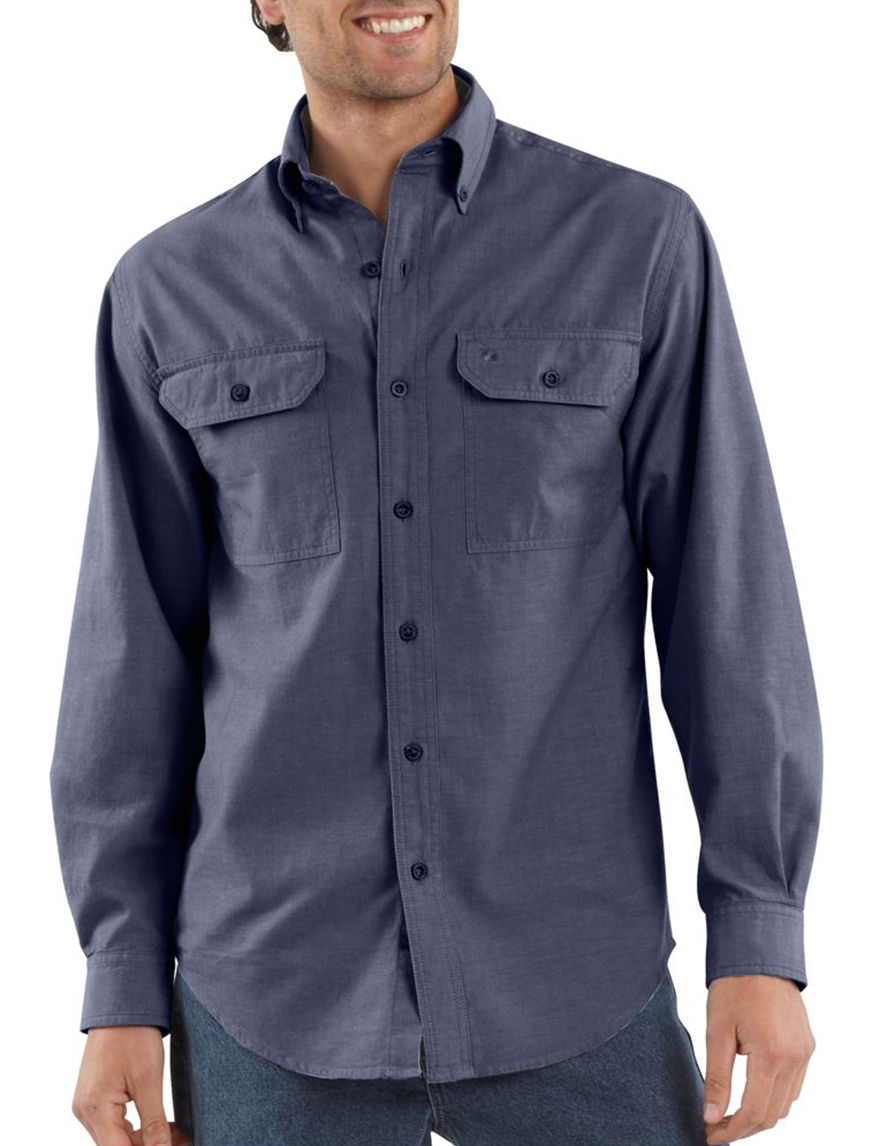 Carhartt Chambray Casual Button Down Shirts